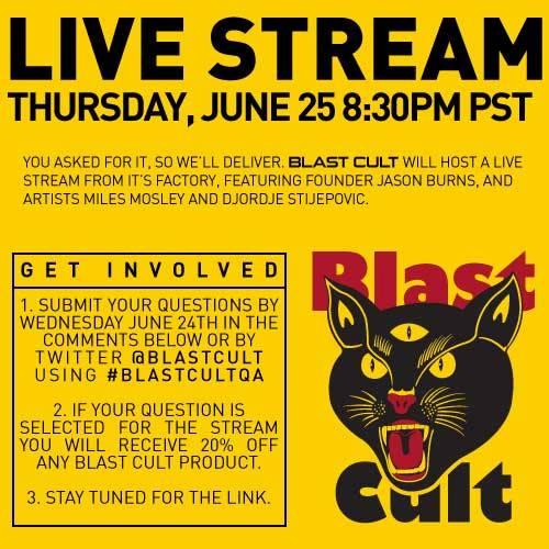 Blast Cult Live Stream with Djordje Stijepovic, Miles Mosley and jason Burns