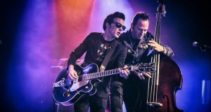Nickelodeon's Drake Bell (from Drake & Josh) and Tiger Army's Djordje on slap bass playing rockabilly